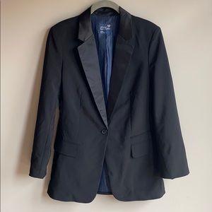 American Eagle Tuxedo Blazer with Satin Trim szM